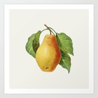 pear Art Prints featuring Pear by Grace