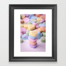 I Love You - Candy Hearts Framed Art Print