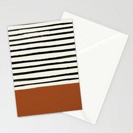 Burnt Orange x Stripes Stationery Cards