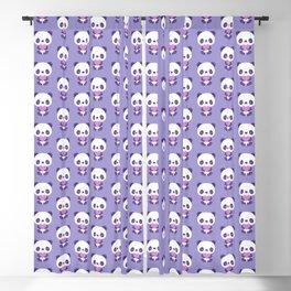 Cute purple baby pandas Blackout Curtain