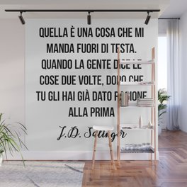 J.D. Salinger quote Wall Mural