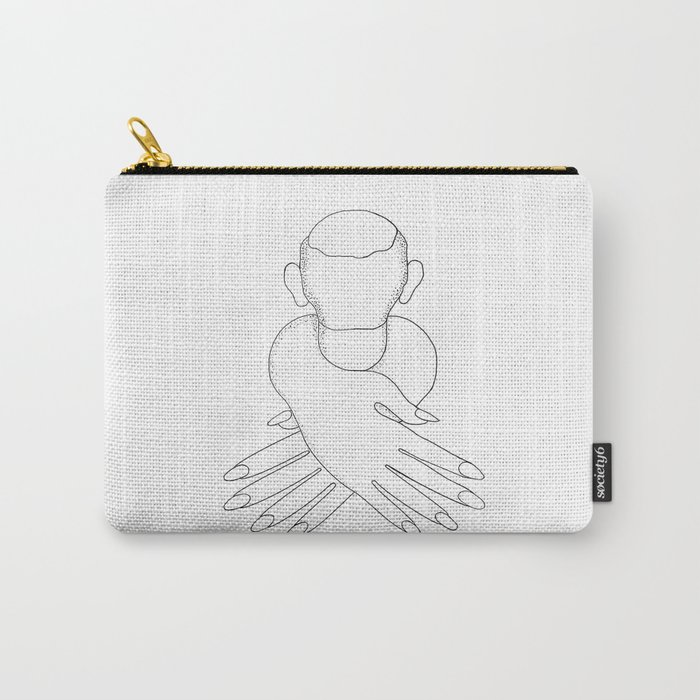 male in female hands Carry-All Pouch
