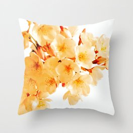 WARM BLOSSOMS Throw Pillow