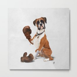 The Boxer (Wordless) Metal Print