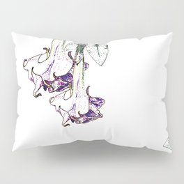 Illustrated Moonflower in Purple and Green Pillow Sham