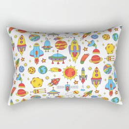 Outer space cosmos pattern Rectangular Pillow