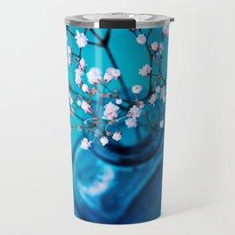 BLUE-WHITE BABYBREATH Travel Mug