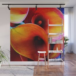 Orange Calla Lillies Wall Mural