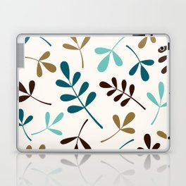 Assorted Leaf Silhouettes Teals Brown Gold Cream Laptop & iPad Skin