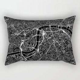 London Black Map Rectangular Pillow