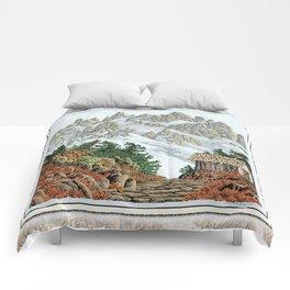 BEYOND MOUNT SHUKSAN AUTUMN COLOR VERSION Comforters
