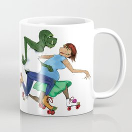 Rollerskating Monsters Coffee Mug