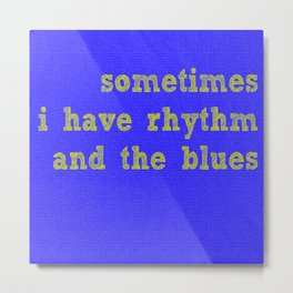 Rhythm in Contrast Metal Print