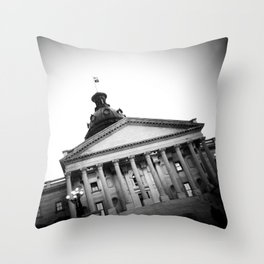 SC State House - B&W Throw Pillow