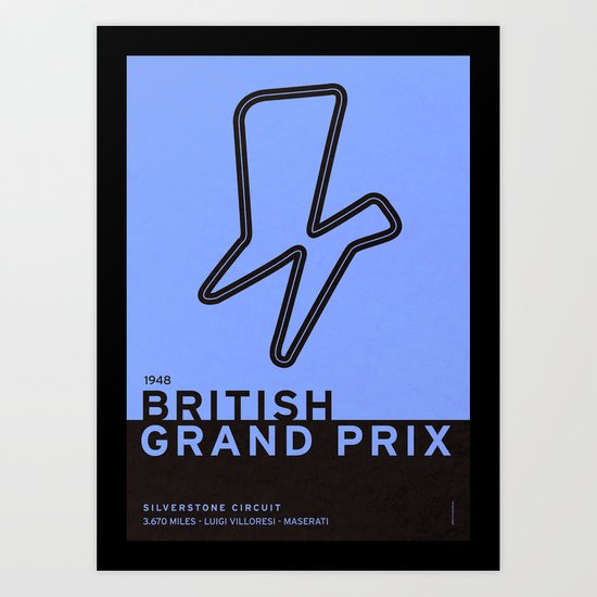 Legendary Races - 1948 British Grand Prix Art Print