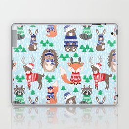 Christmas woodland Laptop & iPad Skin