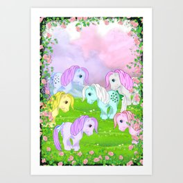 g1 my little pony collector ponies Art Print