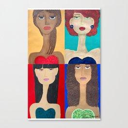 Long Neck Sisters Canvas Print