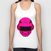 daft punk Tank Tops featuring Daft Punk by Alli Vanes