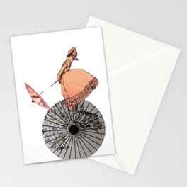 The chinese aerialist Stationery Cards
