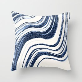 Textured Marble - Indigo Blue Throw Pillow