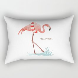 Flamingo - Hello Summer Rectangular Pillow