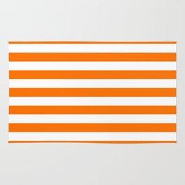 Turmeric Orange Beach Hut Horizontal Stripe Fall Fashion Rug