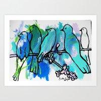 Birds on a Wire #36 Art Print