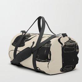 Hand drawn vintage teapots Duffle Bag