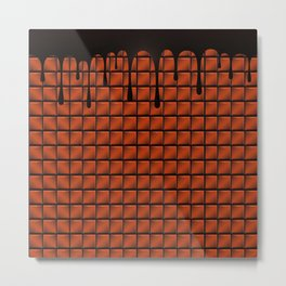 Dripping Chocolate Bar Metal Print