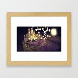 Tangled : Rapunzel castle fan art Framed Art Print