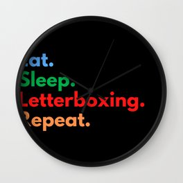 Eat. Sleep. Letterboxing. Repeat. Wall Clock