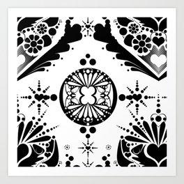 black pattern 8 Art Print