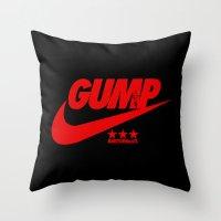 forrest gump Throw Pillows featuring Gump- JustDoIt III by IIIIHiveIIII