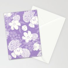 SKETCHY FLORAL: DUSTY LAVENDER Stationery Cards
