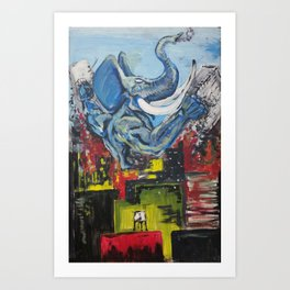 Kaiju Elephant Art Print