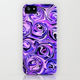 Violet and Lilac Paint Swirls iPhone Case
