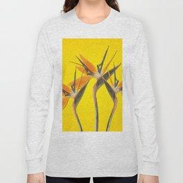 strelitzia - Bird of Paradise Flowers II Long Sleeve T-shirt