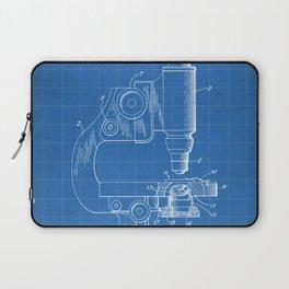 Microscope Patent - Scientist Art - Blueprint Laptop Sleeve
