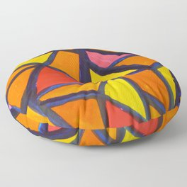 Striking Abstract Pattern Floor Pillow