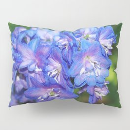 Sky blue Delphinium Flowers Pillow Sham