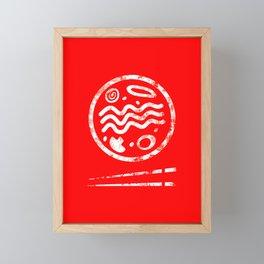 Ramen Logo Framed Mini Art Print