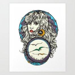 The 3 Birds of Rhiannon Art Print