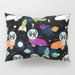 Corgi welsh corgi outer space astronaut rockets cute dog costume pet friendly dog art Pillow Sham