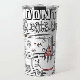Don't Purr-cats-tinate - Cat Procrastination Pun Travel Mug