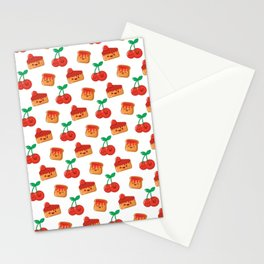 Cherry, Cake and Jam on Toast Stationery Cards