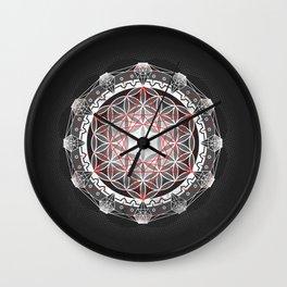 Flower of Life + Metatrons Cube Wall Clock