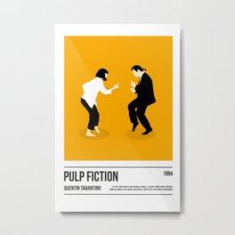 Pulp Fiction Poster Art Print, Tarantino Poster Print, Movie Print, Film Wall Art, Boyfriend Christmas Gift, Christmas Present for Boyfriend Metal Print