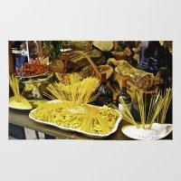 pasta Area & Throw Rugs featuring Pasta Display - Venice, Italy by Jeff Sargis