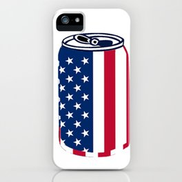 American Beer Can Flag iPhone Case